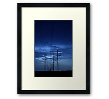 electrical blues Framed Print