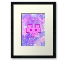 Arcade Miss Fortune. Pink Heart. (MF Recreativa. Corazón rosa) Framed Print