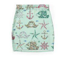 Nautical Stripes Mini Skirt
