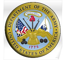 ARMY, American Army, United States Army, Emblem of the United States, Department of the Army Poster