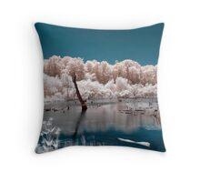Candy Floss Lake Throw Pillow