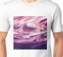 Purple Wind Abstract Unisex T-Shirt