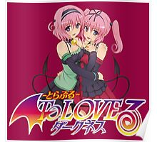 Momo & Nana - To love ru Darkness Poster