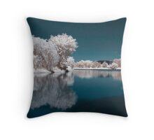 Candy Floss Lake II Throw Pillow