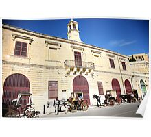 Horse and Buggy in Malta Poster