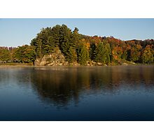 Bright and Sunny Fall Reflections Photographic Print