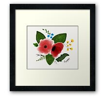 Flowers(Water color) Framed Print