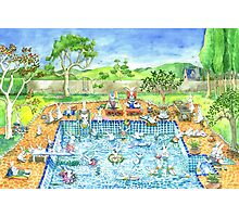 bunny pool party Photographic Print