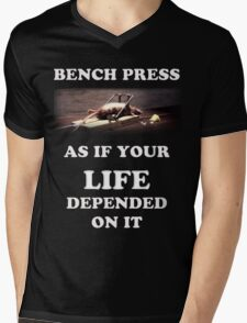 Bench Press - dark shirts Mens V-Neck T-Shirt