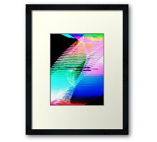 Coloured Whirlwinds Framed Print