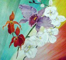 Orchids by Kathleen Ann Newton