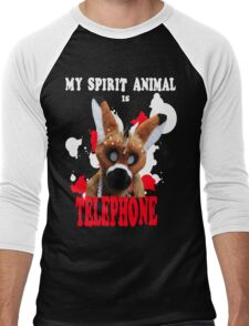 My Spirit Animal is Telephone  Men's Baseball ¾ T-Shirt