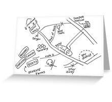 Map to Schrute Farms Greeting Card