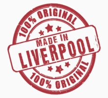 100% Original - Made In Liverpool T Shirts, Stickers and Other Gifts Kids Clothes