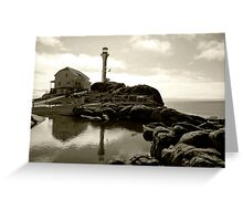 Cape Forchu Lighthouse, Yarmouth, NS Greeting Card