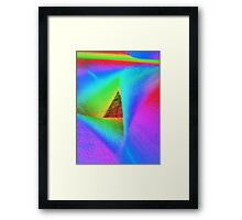 Pyramid Travelling through Time Framed Print