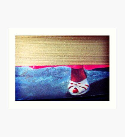 white sandal Art Print