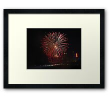 The Rockets of Independence Day Framed Print