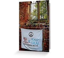 Peace and Ecology Festival, Liverpool July 4th 2010 Greeting Card