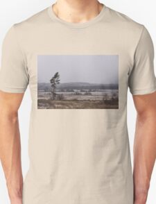 Canadian North - Lone Pine, Fields, Hills and Fresh Snow T-Shirt