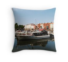 Bathurst Basin, Bristol  U/K Throw Pillow