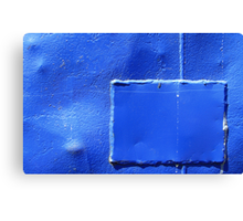 Cobalt reconstruction Canvas Print