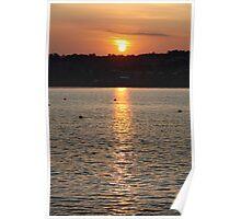 devon sunset  Poster