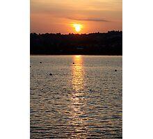 devon sunset  Photographic Print