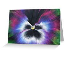 Hyperspace Pansy Greeting Card