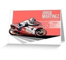 Jorge Martinez - 1985 Jarama Greeting Card