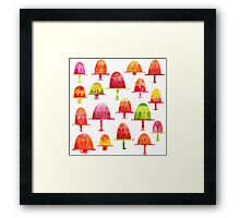 Jellies on Plates Framed Print