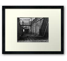 Cattle Chute Framed Print