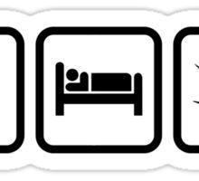 Eat Sleep Smoke Sticker