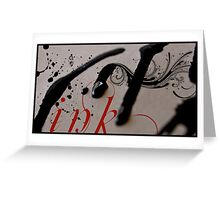Ink. Greeting Card