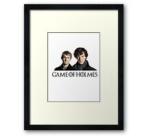 Game of Holmes Framed Print