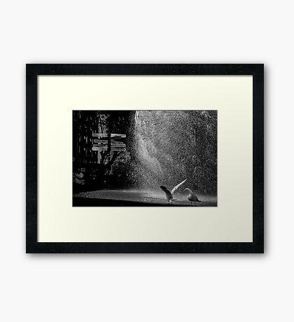 Around the world Framed Print