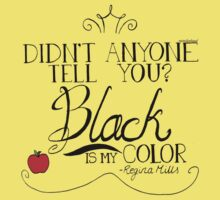 Black is my color (black font, American spelling) Kids Clothes
