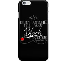 Black is my colour (white font, English spelling) iPhone Case/Skin
