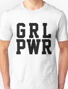 GRL PWR - Black Text Unisex T-Shirt