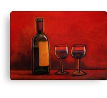 Vino Roja Canvas Print