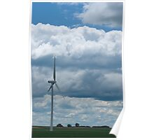 Illinois wind farm Poster
