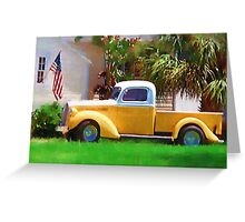 Tropical Truck painting  Greeting Card