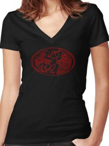 The red resistance, 1962 Women's Fitted V-Neck T-Shirt