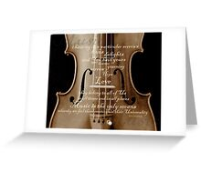 violin with words A.H. Overstreet © 2010 patricia vannucci Greeting Card