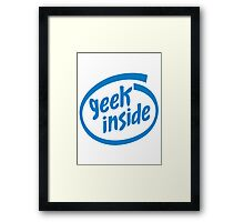 Geek Inside - Blue Framed Print