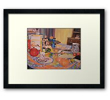 Around the Round Table Framed Print