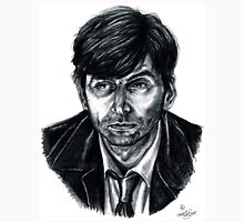 David Tennant as Broadchurch's Alec Hardy (or Gracepoint's Emmett Carver) (Graphite) Portrait  Unisex T-Shirt