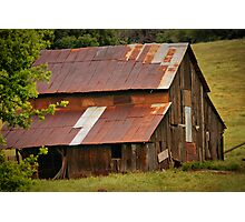 Old Rusted Barn Photographic Print
