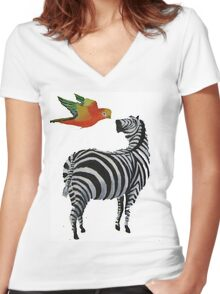 patterns Women's Fitted V-Neck T-Shirt