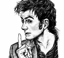 """The Doctor - David Tennant - """"Fingers on Lips!"""" by Indigo East"""